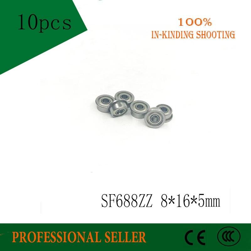 عالية الجودة 10 قطعة SF688ZZ ABEC-5 محامل F688ZZ الفولاذ المقاوم للصدأ محامل شفة SF688-2Z