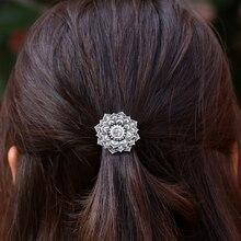 Antique Silver Yoga Chakra Mandala OM Amulet Lotus Hair Clip Women Hair Jewelry Hairpin
