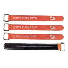 4 pièces 4x RJX magique cravate anti-dérapant batterie sangle ceinture avec fermoir en métal pour RC Drones Lipo batterie Rechargeable bricolage