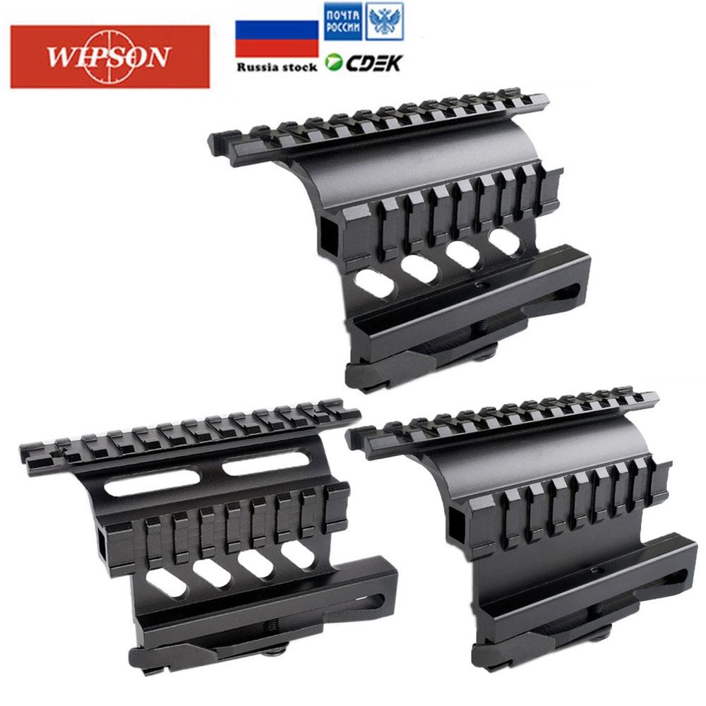 WIPSON AK47 AK74 SAIGA riel Picatinny Weaver Lado de montaje rápido QD 20mm riel picatinny separar doble lado AK alcance vista soporte de montaje