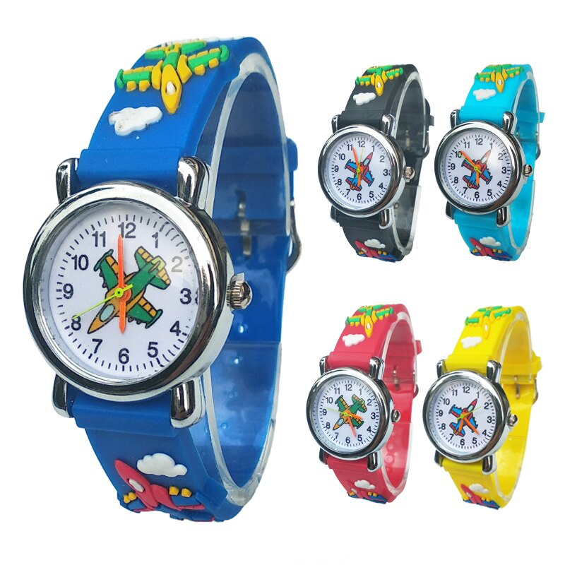 children watch spiderman sets cartoon kids part set watches wallet 3d cartoon child wristwatch and purse for boys girls students Cartoon aircraft Lovely Kids Watches For Girls Boys Gift Clock Children Students Watch Very Popular airplane style child Watch