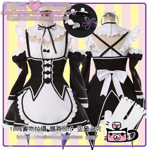 Objet Zero kara Hajimeru Isekai Seikatsu REM RAM Maid uniformes personnalisés déguisement Cosplay livraison gratuite