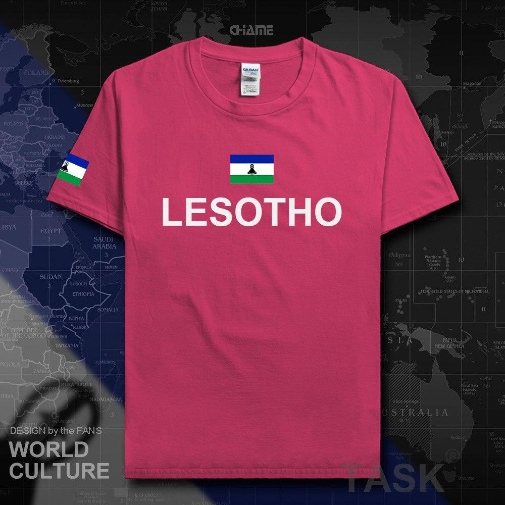 Reino do Lesoto LSO camisas 2018 camisa dos homens t hip hop t-shirt de algodão roupas de fitness da marca tees país bandeira nação nova