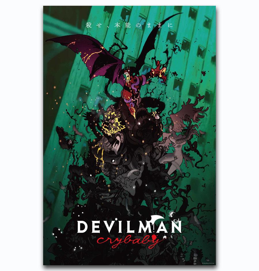 Горячая новая игра Мода devilman crybaby-Шелковый художественный плакат Настенная Наклейка украшение подарок