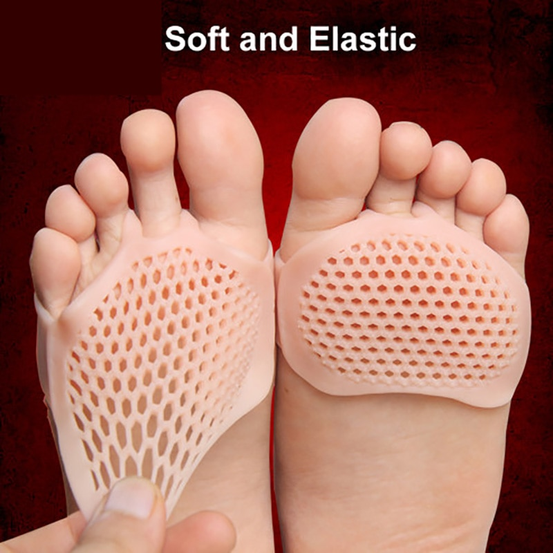Купить с кэшбэком USHINE Silicone honeycomb forefoot insoles high heel shoes pad gel insole breathable health care shoe insole massage shoe insert