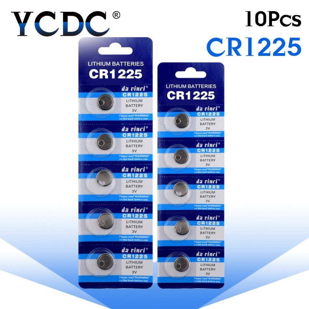 YCDC 10X + большая емкость + + большая акция + + Горячая продажа + 10 X CR1225 3V литиевая батарея BR1225 eb1225 CR 1225 3V батарея 2020