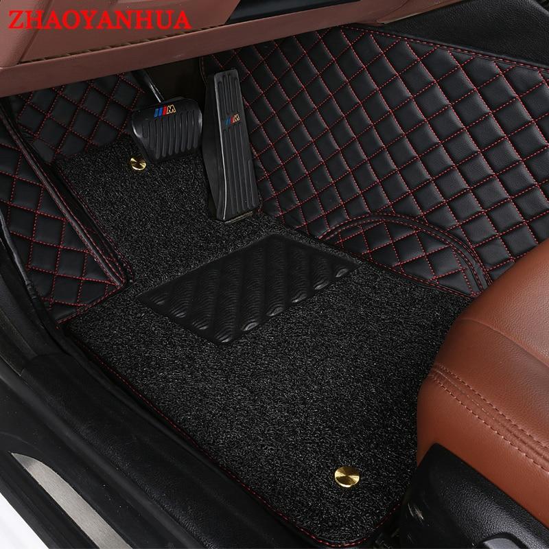 ZHAOYANHUACustom fit car floor mats for Jeep Grand Cherokee Wrangler Commander Compass 5D  heavyduty carpet floor liner