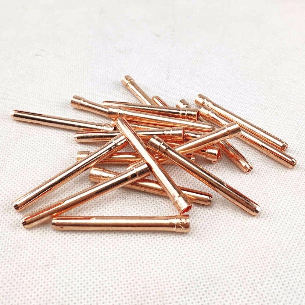 Tungsteno pinza de electrodos Tig consumibles 1,0mm 1,6mm 2,0mm 2,4mm 3,0mm 3,2mm pinza para WP17 WP18 WP26 Tig antorcha