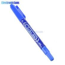 2 uds. Marcador de tinta azul CCL Anti-grabado placa de circuito PCB doble pluma DIY para Arduino