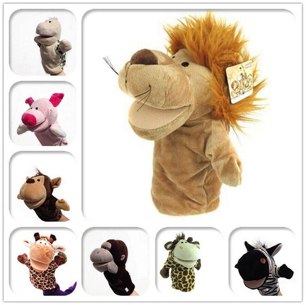 1 шт., ручная кукла с животными, Классическая Детская кукла Kawaii, новинка, милая собака, обезьяна, Лев, Маппет-игрушка, подарок для детей