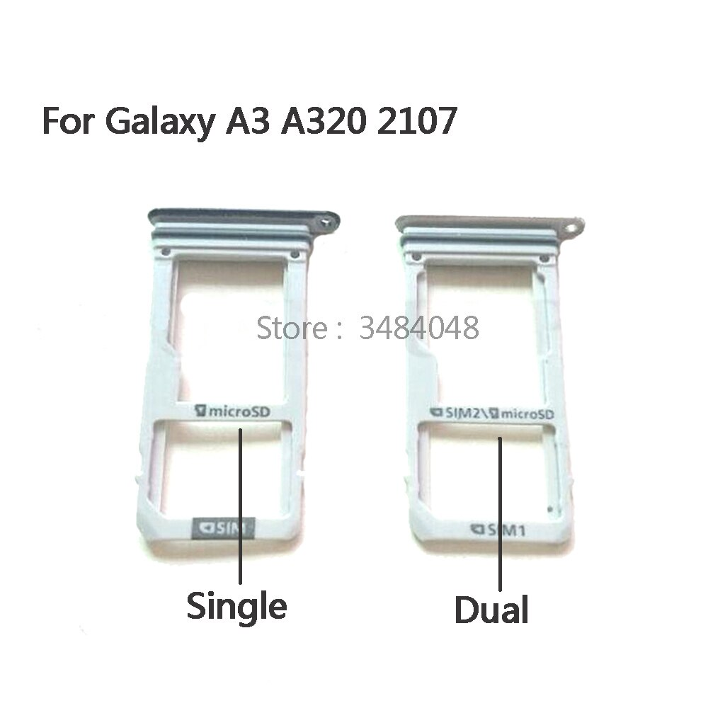 5 pcs/lot OEM For Samsung Galaxy A3 (2017) A320 Dual/Single SIM Card Tray Slot Holder Slot Adapter R