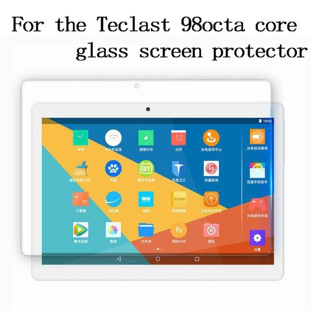 Para Teclast 98 Octa Core versión actualizada 4G Tablet PC 10,1 tablet 9H Protector de pantalla de vidrio templado película protectora