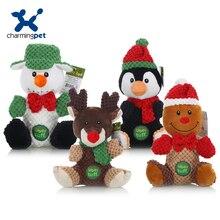 Charmingpet-jouets pour chiens de compagnie   Jouets pour chiens pingouin renne bonhomme de neige, jouets danimaux pour lentraînement des animaux domestiques