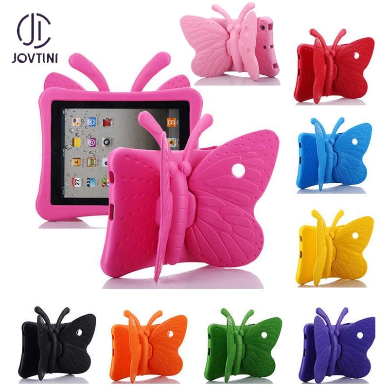 """JOVTINI горячий EVA противоударный чехол для iPad Mini 1 2 3 4 7,9 """"мультяшная БАБОЧКА подставка для планшета Чехол для iPad Mini 4 детские безопасные чехлы"""