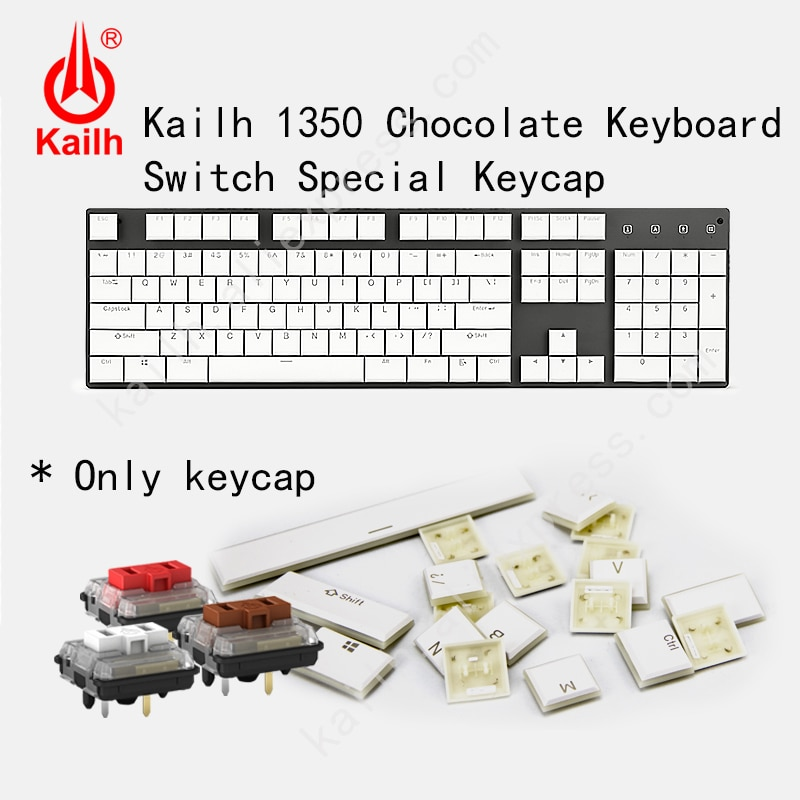 AliExpress - Kailh 104 Low Profile Keycaps 1350 Chocolate Gaming Keyboard Mechanical switch ABS Keycaps kailh choc keycaps