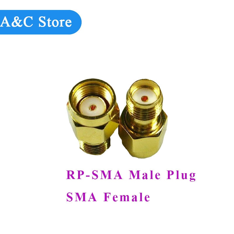 RP-SMA Male Plug to SMA Female Jack Connector RF Coax Adapter Straight goldplated new free shipping factory outlet wholesale