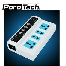 20 stks/partij SC3-GSM smart power socket Draadloze Mobiele Telefoon PDA GSM Afstandsbediening 4 Outlets Power Socket Smart Switch Plug