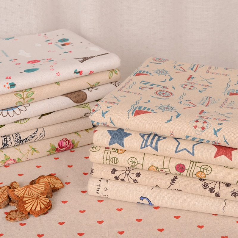 Tela de algodón de poliéster con estampado de retazos para niños ropa de cama textil para coser Tilda muñeca