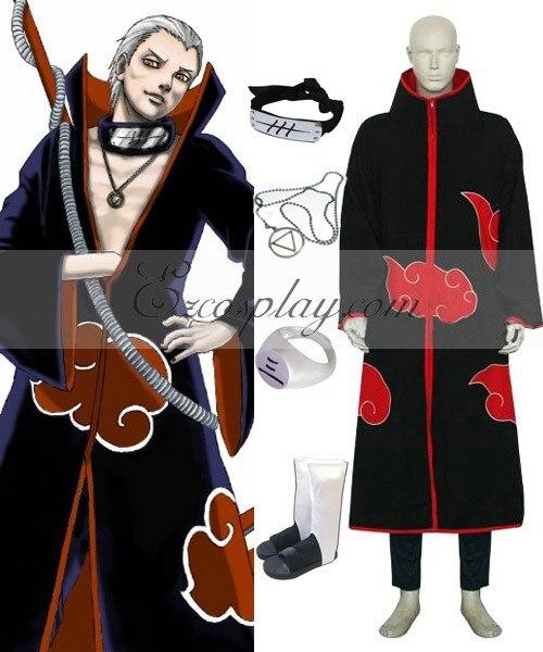 Naruto Akatsuki Hidan Deluxe Cosplay Costume Set E001