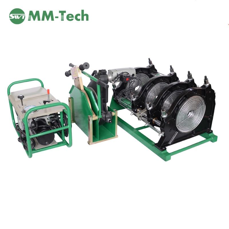 SWT-B315/90H machine automatique de soudure de fusion bout à bout de tuyau de hdpe, équipement automatique dusinage de fosse septique de hdpe