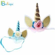 Babiqu 1 ud. Adorable flor elástica de encaje unicornio cuerno decoración para chicas decoración para fiesta de Halloween disfraz de peluche de juguete