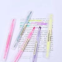 1pc stationery double headed fluorescent pen hook highlighter pen color mark pen cute flash school student pen gifts 8 color