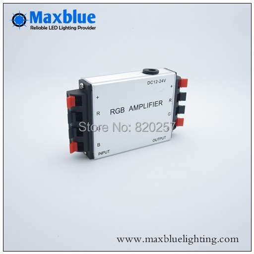 Free shipping DC12V/24V RGB Amplifier 4*3A for RGB Strip