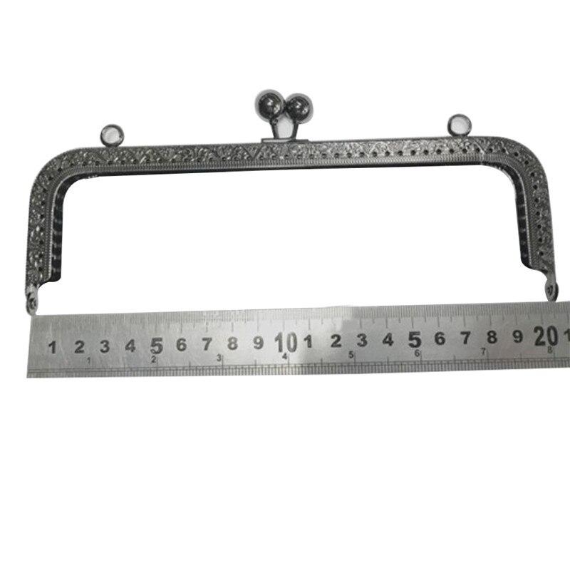 Горячая 20,5 см мета рамка Кошелек Рамка застежка замок квадрат дизайн сумка рамки DIY ремесло LSK99