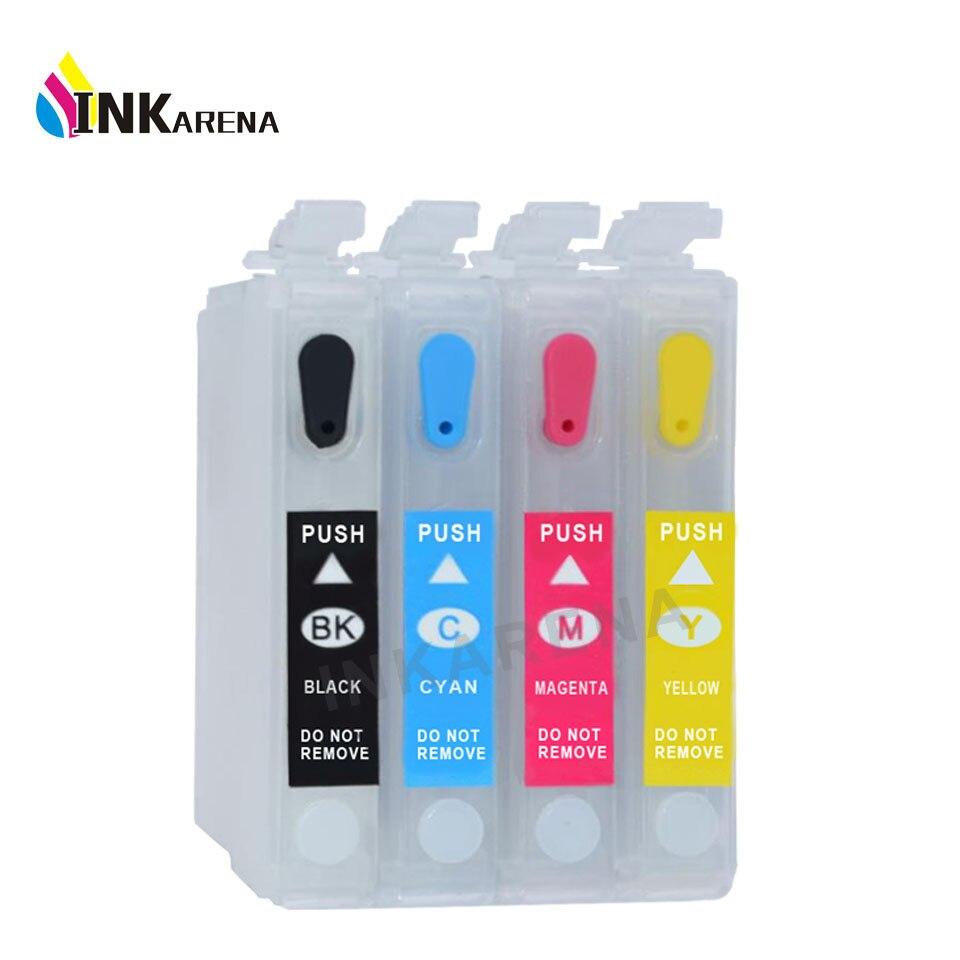 Recarga de cartucho de tinta para Epson Ink T1431 T1432 T1433 T1434 ME OFFICE 82WD 900WD 960FWD WF7521 WF7511 tinta de impresora con Chip de reinicio