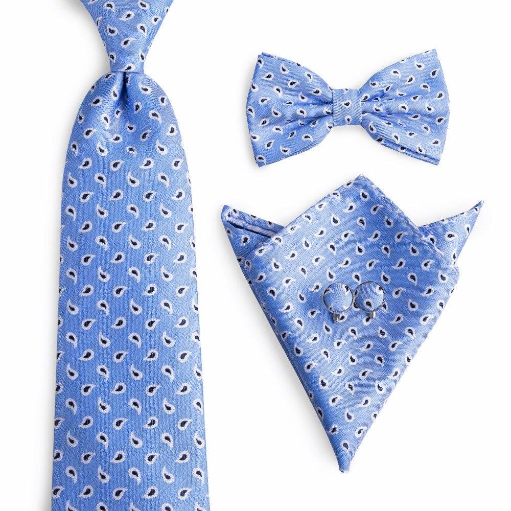 Juego de corbata para Hombre, corbata de lazo y bolsillo cuadrado, corbata, corbata, juego de gemelos y pañuelo, Corbatas para Hombre, corbata NL-0047