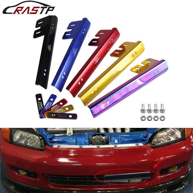RASTP-Aluminum Car Styling Material Easy to Install License Plate Frame for Honda Civic RS-BTD015 ms office pro plus 2019 genuine license 2 pc install