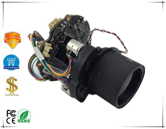Foco automático bonde do módulo 4x da câmera do ip ptz da lente do zumbido de 2.8-12mm com irc 1080 p h.265 3516d + imx323 onvif cms xmeye audio p2p
