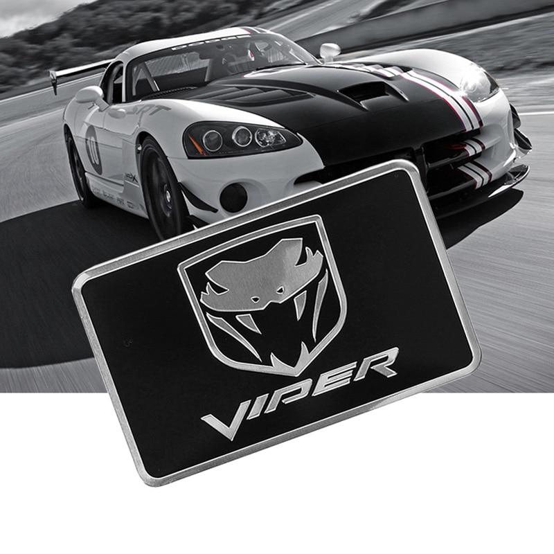 Cobra Symbol Aluminium Allloy Car Styling Emblem Dadge Sticker for Viper R/T SRT