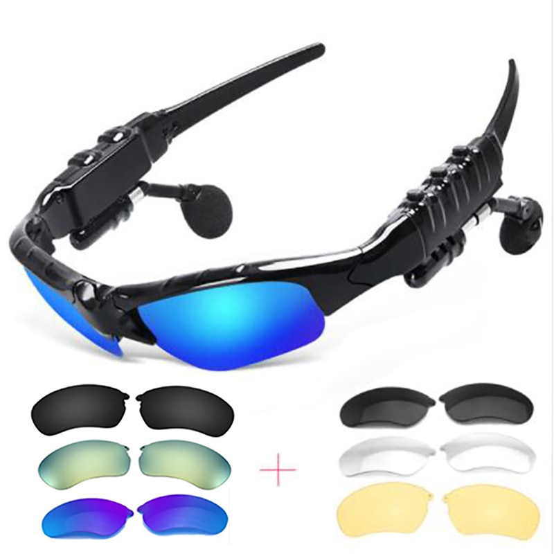 Уличные очки, Bluetooth солнцезащитные очки, беспроводные стерео наушники для спорта, верховой езды, мелодии, звонки, наушники для xiomi xiami sony