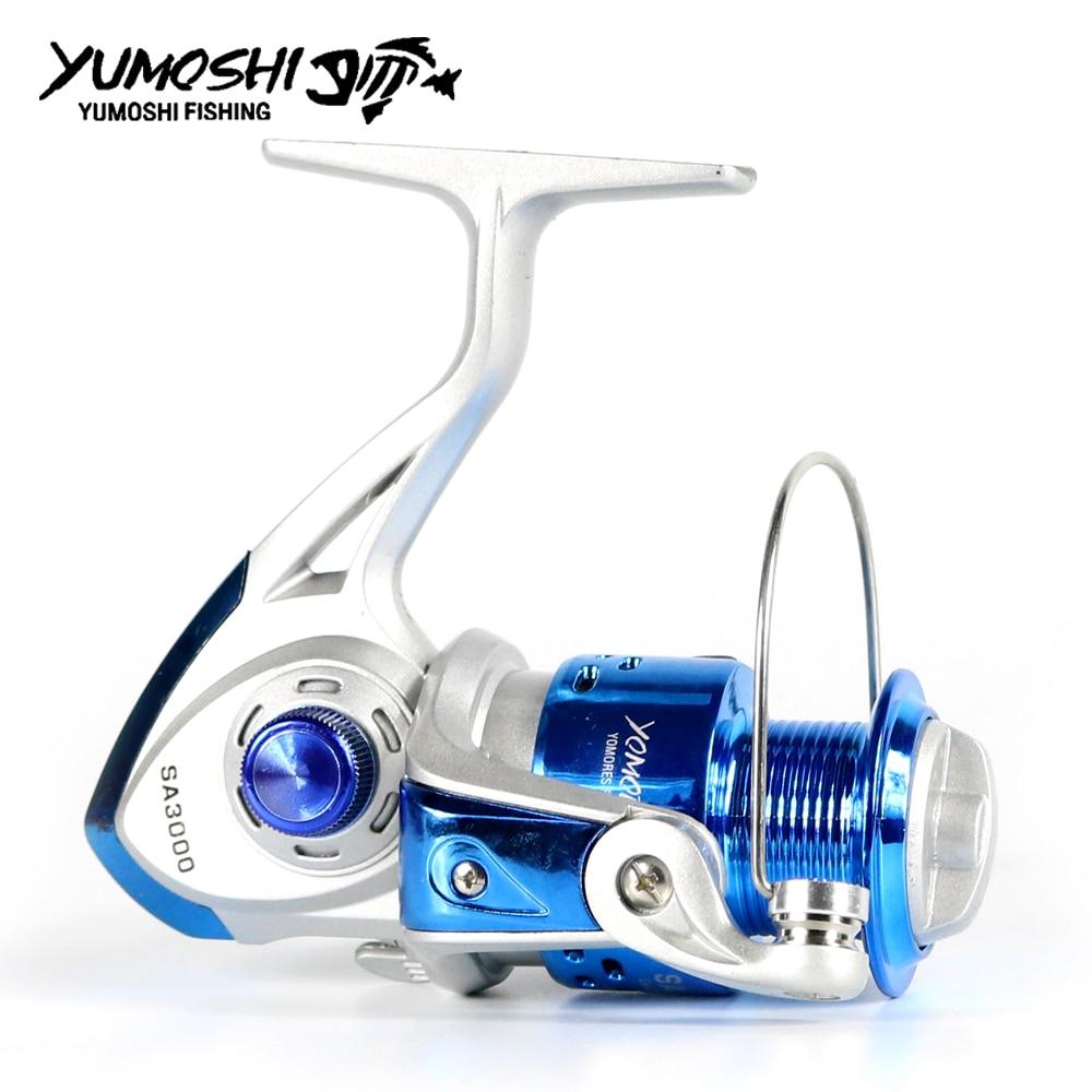 YUMOSHI Fishing Reel Carp Spinning Reel Carbon Front and Rear Drags 18KG Max Drag 12BB Spool Sea Boat Reel enlarge