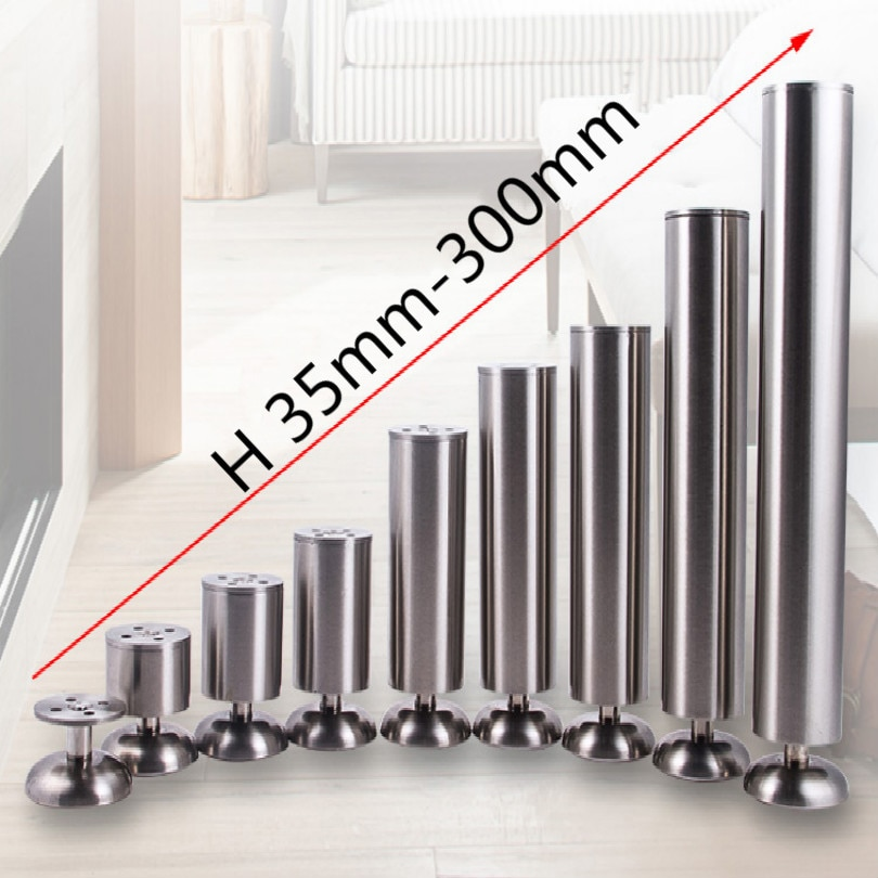 stainless steel universal table legs furniture legs sofa legs with rubber feet mat length 35MM-300MM Support 300KG free shipping fd self locking switch legs with long legs 2x3 frame