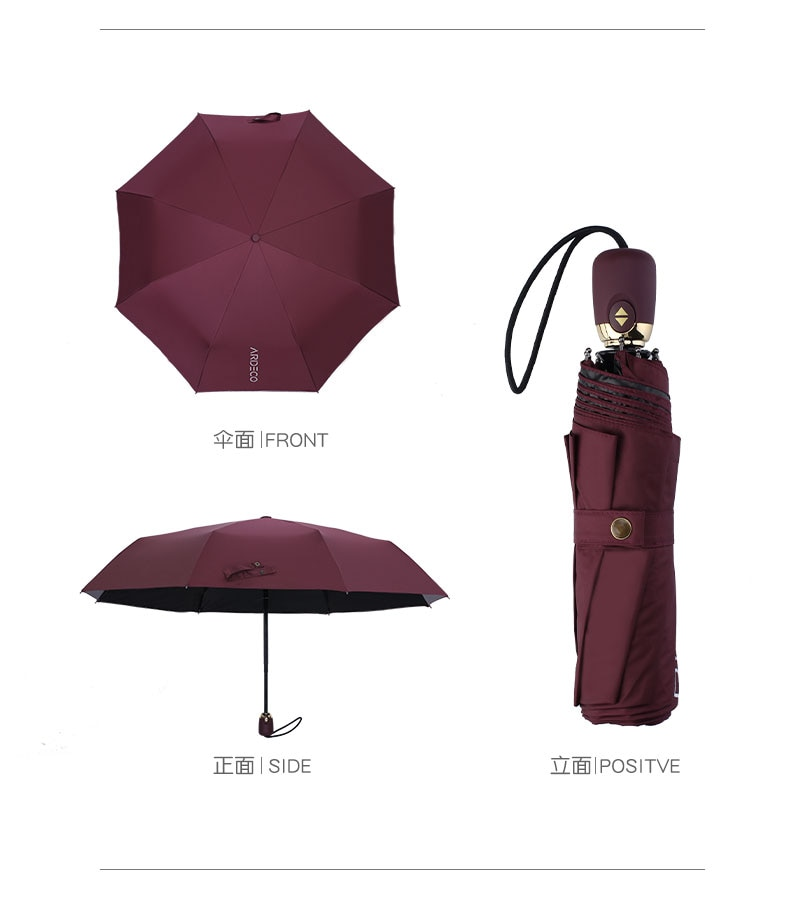 Luxury brands High Quality Camellia automatic umbrella rain women men folding UV sun transparent sunshade umbrellas