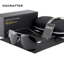Солнцезащитные очки HDCRAFTER мужские, винтажные, большие, дизайнерские, поляризационные линзы, солнцезащитные очки для вождения