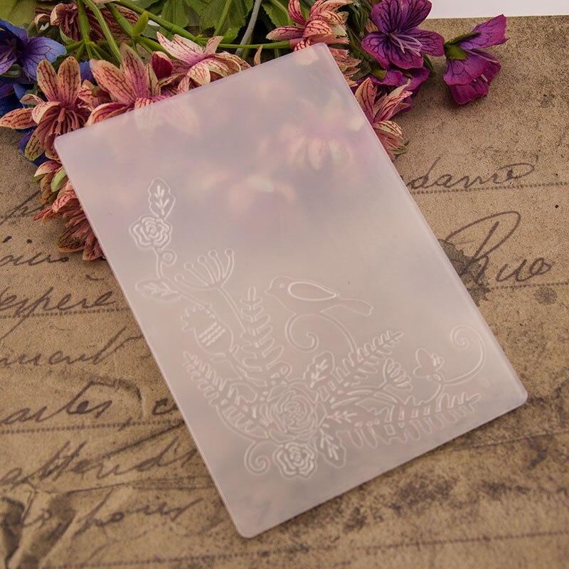 KLJUYP Birds Plastic Embossing Folders for DIY Scrapbooking Paper Craft/Card Making Decoration Supplies 03071