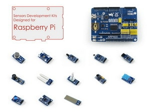 Raspberry Pi Paquete de accesorios D para Raspberry Pi 3B, 2B, A +, B + incluye placa de expansión ARPI600 y varios módulos de Sensor