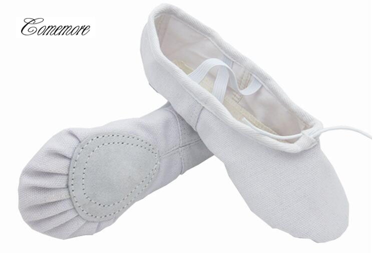 Zapatillas de Ballet para niñas, zapatos de Ballet Pointe para niñas, zapatos de Yoga de suela blanda para niños, zapatos de baile de lona en 10 colores