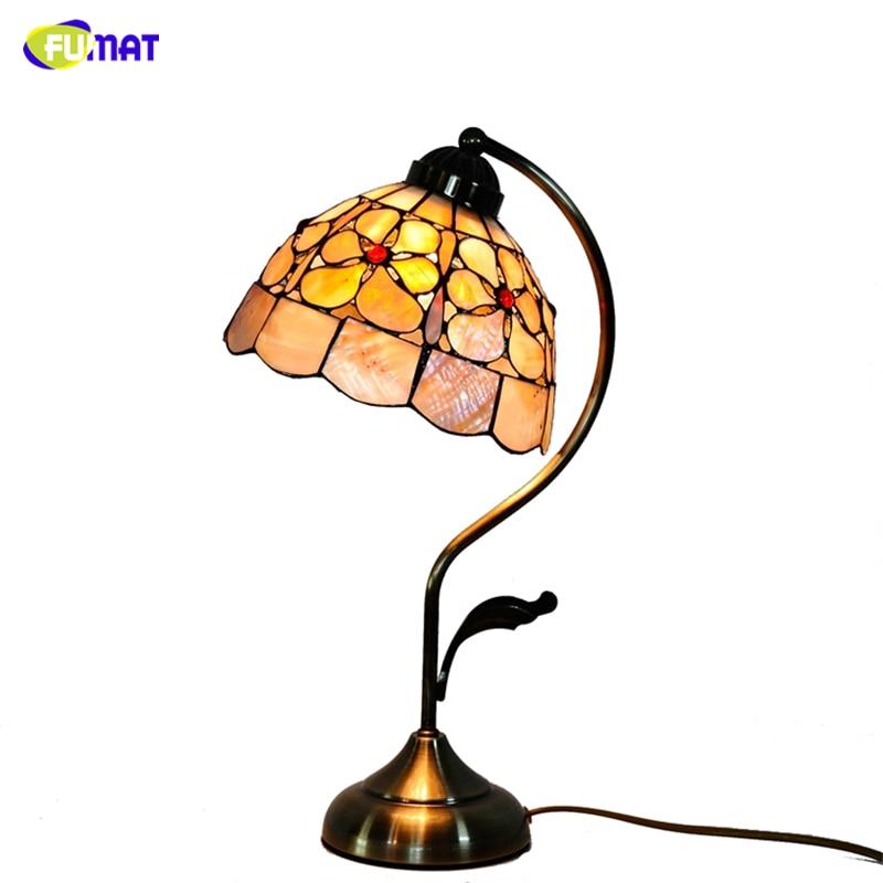 "FUMAT 8"" Pearl Flowers Natural Shell Table Lamps European Style Hand-made Art Light For Living Room Bed Room Bar Desk  Lightings"