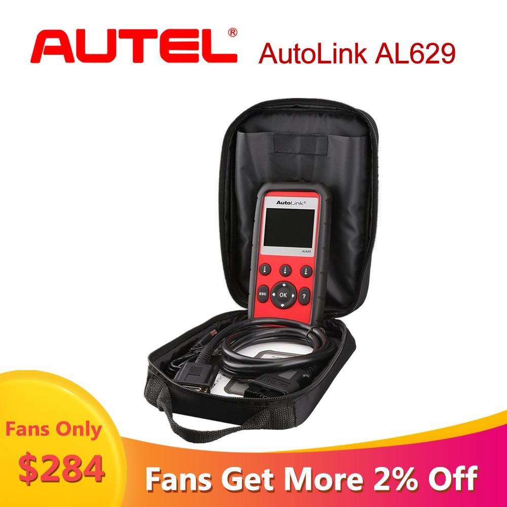 Autolink autel al629 autodiagnóstico do carro scania abs/srs/motor obd2 scanner para carros ferramenta de diagnóstico do carro como ml629 navio de nós