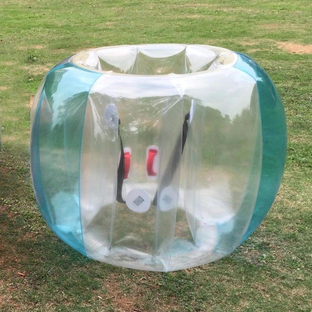 Забавный надувной бампер из ПВХ с пузырьками для активного отдыха на открытом воздухе, тренировочный буферный мяч для бега, семейный игровой костюм для тела
