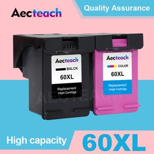 Aecteach For HP 60 XL Remanufactured Ink Cartridge Replacement 60XL for Deskjet F4440 F4480 D2530 D2545 F2430 F4224 Printer Ink