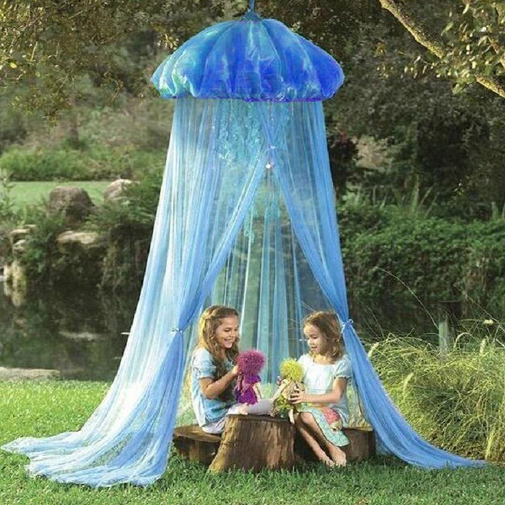قنديل البحر على شكل ناموسية غزل خيمة البحرية قنديل البحر سرير ناموسية دمية الديكور القراءة خيمة مظلة غطاء