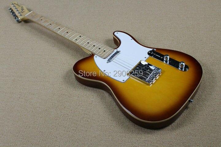 Guitarra tele clásica de 53 pulgadas, gran oferta, Unión antigua, sunburst circle color tl, guitarra de alta calidad, envío gratis