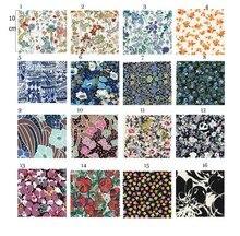Tissu en coton 100% coton   Tissu lisse imprimé de fleurs bleues, vêtements en textile imprimé liberty, tissu de literie
