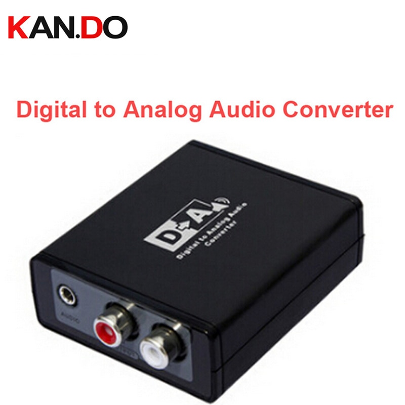 Caja de convertidor de Audio Digital a analógico 3088/S/PDIF o óptico (toslink) digital a analógico Audio L/R/3,5mm Audio decodificador