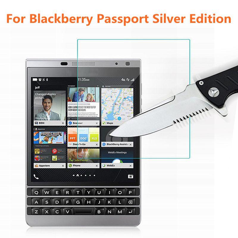 Закаленное стекло для Blackberry Passport серебряное издание Защитная пленка для экрана для паспорта серебряное издание стекло